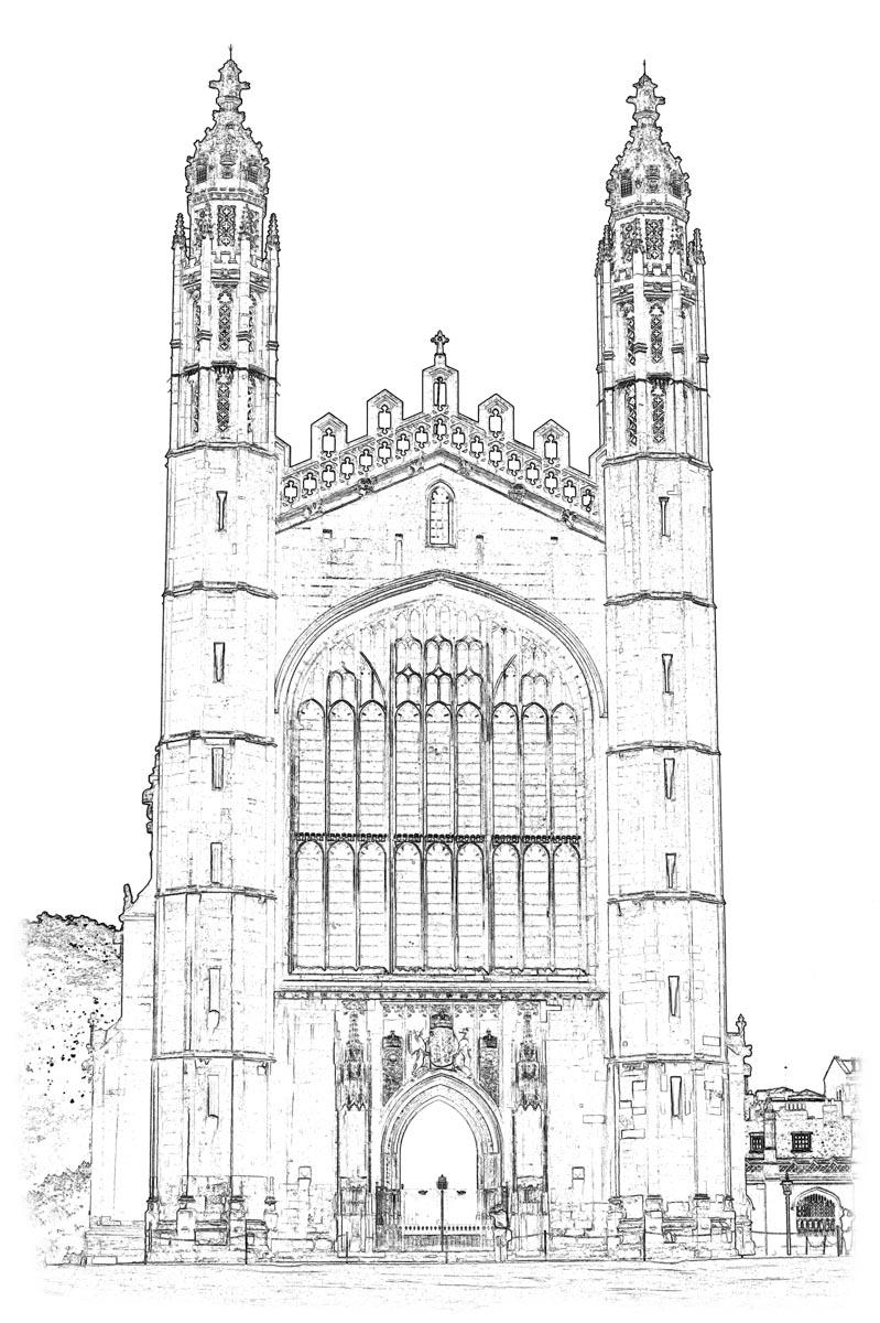 Kings' College Chapel Unpainted