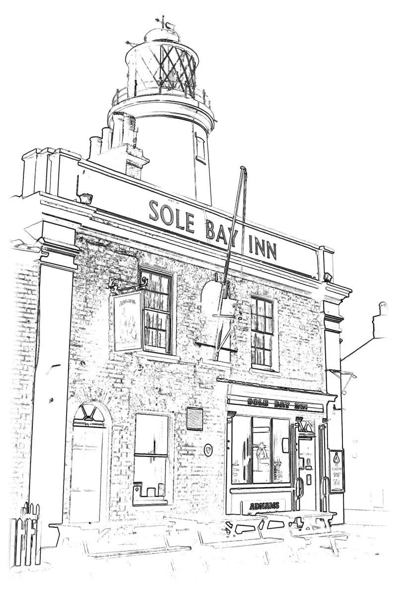 The Sole Bat Inn, Southwold Unpainted